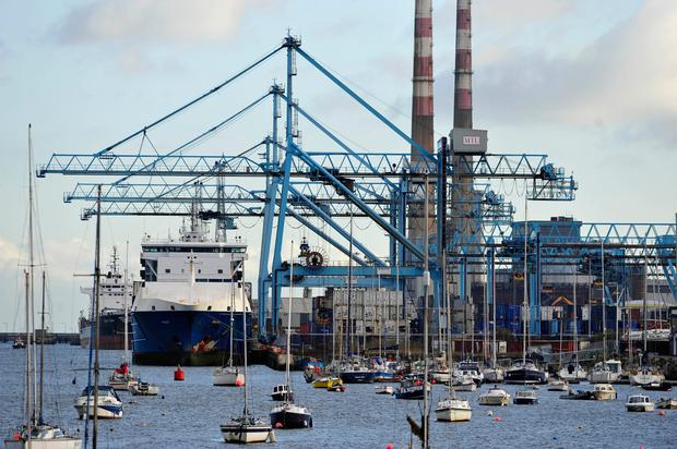 "The Irish Academy of Engineering has warned of the ""over-dependence"" on Dublin Port for trade traffic. Photo: Bloomberg"