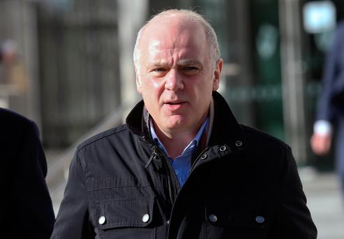 Former Anglo CEO David Drumm leaves court. Photo: Collins Courts