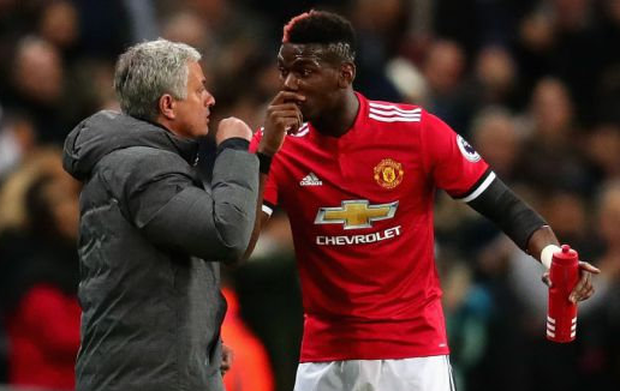 Jose Mourinho has strongly denied he has fallen out with Paul Pogba