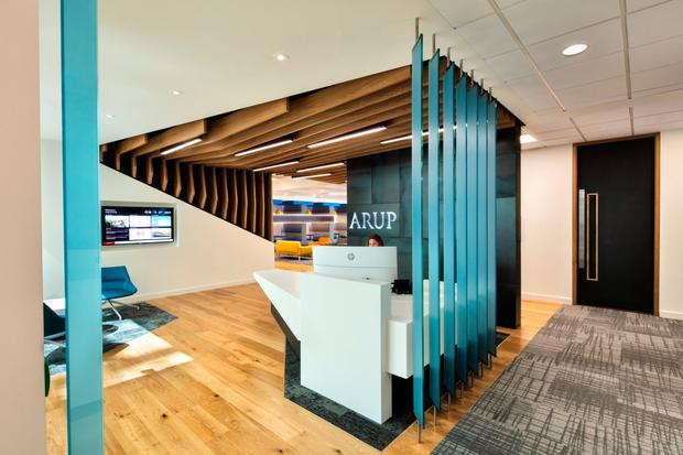 Inside the Arup office which houses 170 staff