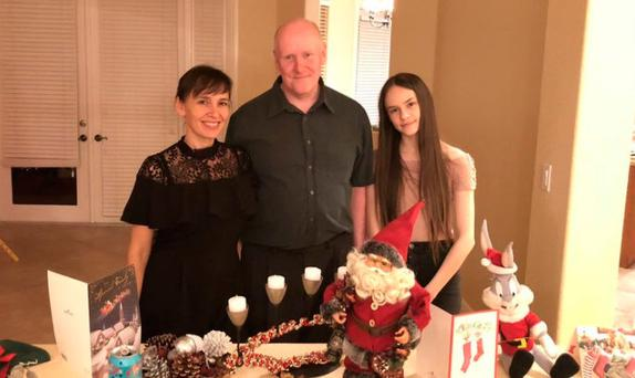 (L-R) Olga Hurley with her husband and their daughter Adelina Photo Credit: Morning Ireland/RTE Radio One