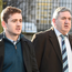 Ireland and Ulster rugby player Paddy Jackson (left) arrives at Belfast Crown Court. Photo: Michael Cooper/PA Wire