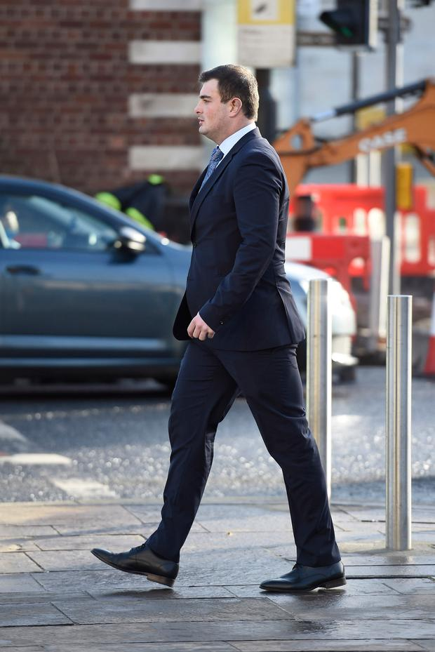 Rory Harrison arrives at Belfast Crown Court. Photo: Michael Cooper/PA Wire