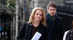 Claire Byrne pictured at the Four Courts on Friday for the third day of a High Court action. Photo: Collins Courts