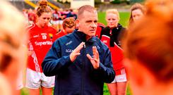 Nobody should be out of pocket for giving the entertainment these girls give,' insists Cork manager Ephie Fitzgerald. Photo: Sam Barnes/Sportsfile