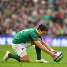10 February 2018; Joey Carbery of Ireland during the Six Nations Rugby Championship match between Ireland and Italy at the Aviva Stadium in Dublin. Photo by Brendan Moran/Sportsfile