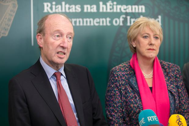 Shane Ross TD and Heather Humphreys face questions. Photo: Kyran O'Brien