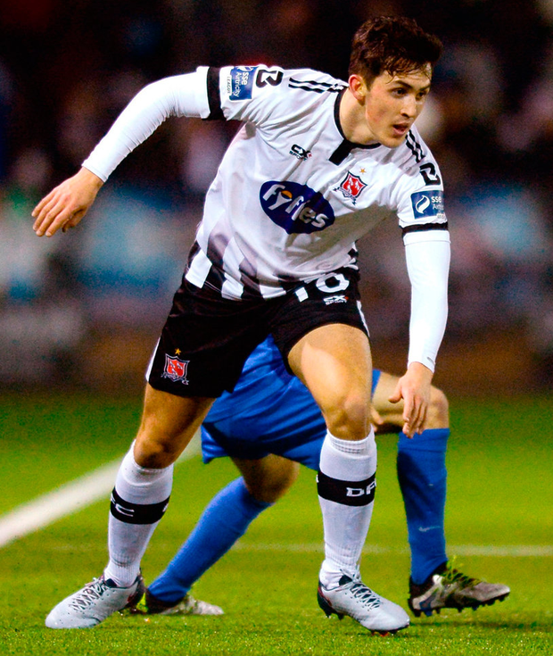 Dundalk's Jamie McGrath in action against Corey Galvin of Bray Wanderers. Photo: Oliver McVeigh/Sportsfile
