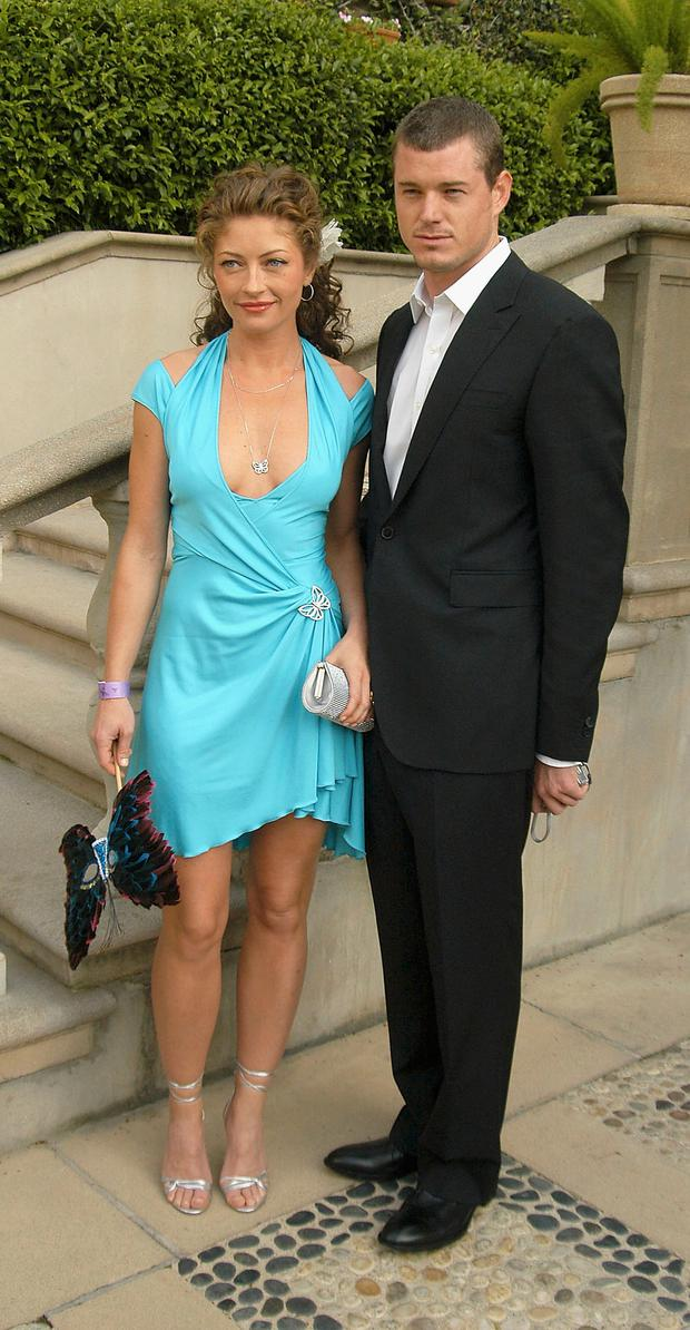 Rebecca Gayheart and Guest Eric Dane attend the Chrysalis Third Annual Butterfly Ball at a private residence on April 17, 2004 in Beverly Hills, California. (Photo by Stephen Shugerman/Getty Images)