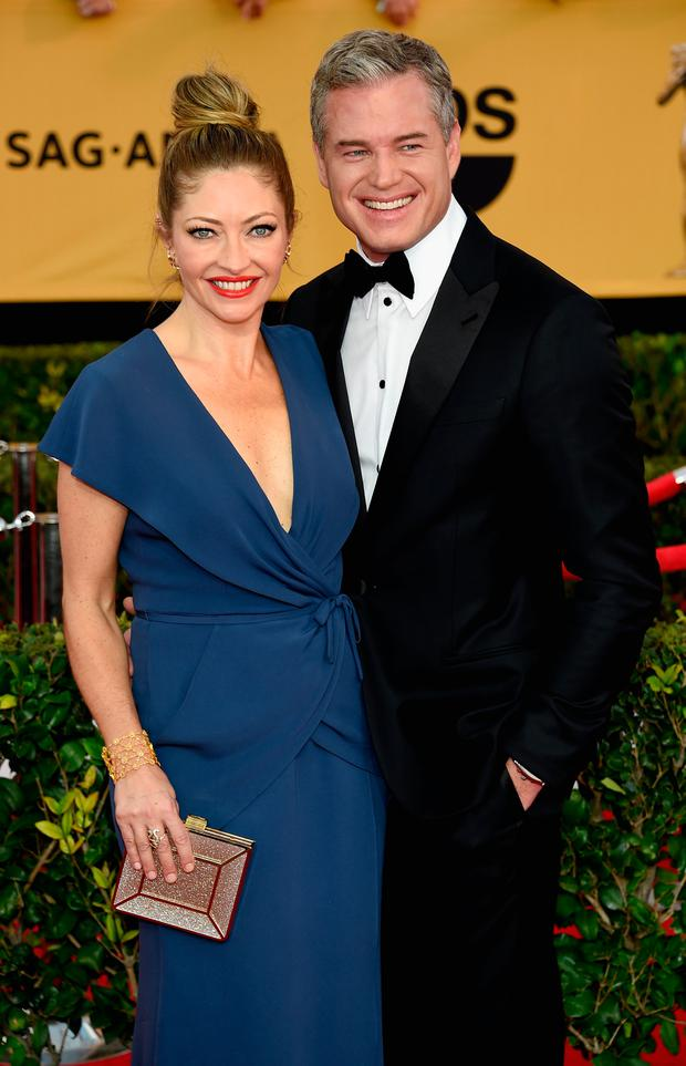 Rebecca Gayheart and Eric Dane attend the 21st Annual Screen Actors Guild Awards at The Shrine Auditorium on January 25, 2015 in Los Angeles, California. (Photo by Ethan Miller/Getty Images)