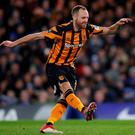 Hull City's David Meyler misses a penalty. REUTERS/Eddie Keogh