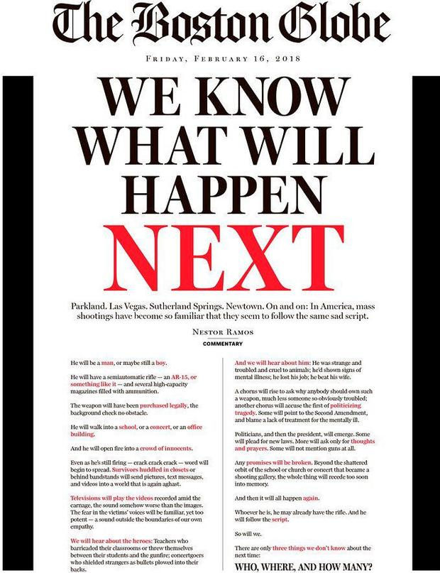 We know what will happen next' - The Boston Globe's powerful