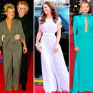 (L to R) Chris Evans and Billie Piper, Kate Middleton, Laura Whitmore and Sienna Miller at the BAFTAs through the years