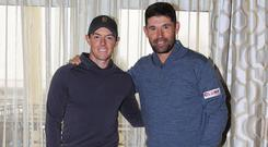 Rory McIlroy (left) and Padraig Harrington (right).