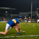 17 February 2018; Jason Forde of Tipperary converts a sideline cut during the Allianz Hurling League Division 1A Round 3 match between Tipperary and Wexford at Semple Stadium in Thurles, Tipperary. Photo by Stephen McCarthy/Sportsfile