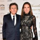 Achiever: Gabriel Byrne and his wife Hannah Beth King. Picture: Michael Chester