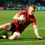 Stephen Fitzgerald scores one of Munster's tries against Cardiff Blues at Cardiff Arms Park. Photo: Ben Evans/Sportsfile