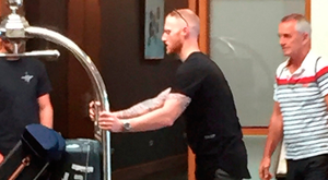 England cricketer Ben Stokes arrives at the team hotel in Hamilton, New Zealand, on Friday. Photo: Rory Dollard/PA