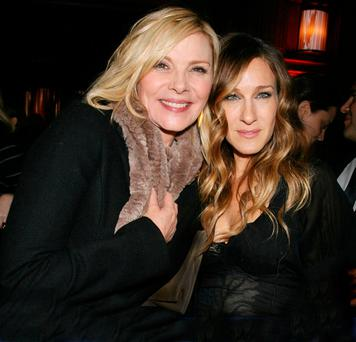 TENSIONS: Kim Cattrall and Sarah Jessica Parker in 'happier' days