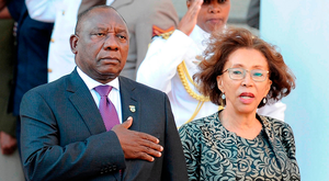 Sworn in: South Africa's newly minted president Cyril Ramaphosa reviews a guard of honour to deliver his State of the Nation address at the Parliament in Cape Town last Friday. The flagship event had been postponed as former President Zuma battled to stay in office. Photo: Getty Images