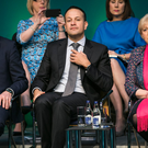 Big plans: Tanaiste Simon Coveney, Taoiseach Leo Varadkar and Minister Heather Humphreys at the launch of Project Ireland 2040. Photo: Kyran O'Brien