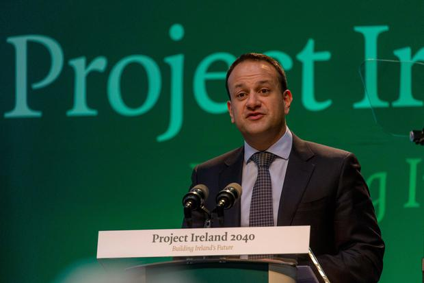 Taoiseach Leo Varadkar speaking at the Cabinet meeting and launch of Project Ireland 2040 at IT Sligo. Photo: James Connolly