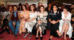 (L-R) Princess Elisabeth von Thurn und Taxis, Derek Blasberg, Pixie Geldof, Alexa Chung, Greta Bellamacina, Jessie Ware and Daisy Lowe attend the Simone Rocha show during London Fashion Week February 2018 at Goldsmith's Hall on February 17, 2018 in London, England. (Photo by Tristan Fewings/BFC/Getty Images)