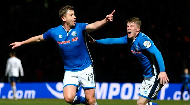 Steve Davies scored a dramatic last gasp equaliser for Rochdale