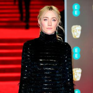 Saoirse Ronan attending the EE British Academy Film Awards held at the Royal Albert Hall, Kensington Gore, Kensington, London. PRESS ASSOCIATION Photo. Picture date: Sunday February 18, 2018. See PA Story SHOWBIZ Bafta. Photo credit should read: Ian West/PA Wire.