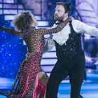 Broadcaster and Comedian Bernard O'Shea and Valeria Milova ,during the Live show of RTE's Dancing with the Stars. kobpix