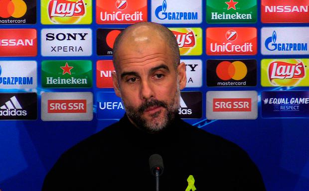 """Guardiola: """"Wigan were interested in me, I didn't choose the club. It didn't happen and that's all."""" Photo credit: PA Video/PA Wire"""