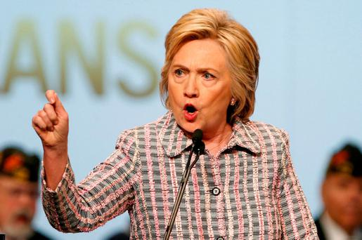 Hillary Clinton: targeted. Photo: REUTERS