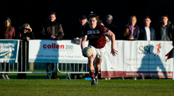 Kieran Molloy turns out for NUIG after making a mad dash to Santry from Tullamore, where he was in action with Corofin earlier on Saturday. Photo by Daire Brennan/Sportsfile