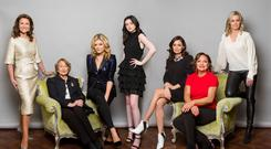 From left: Celia Holman Lee, Grace O'Shaughnessy, Doireann Garrihy, Emily Callan, Louise Duffy, Norah Casey and Vivienne Connolly. Photo: Kip Carroll