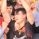 Captain Ronan Connolly lifts the Harty Cup for Ardscoil Rís after victory in Mallow. Photo: Ardscoil Rís