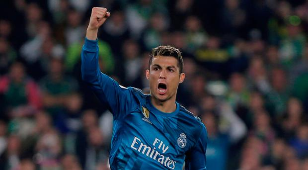 Ronaldo looked to have sealed the win with a net-bursting strike from a tight angle shortly after the hour mark. Photo: Reuters/Jon Nazca