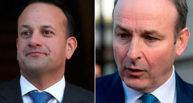 Leo Varadkar and Micheal Martin battling it out in the polls
