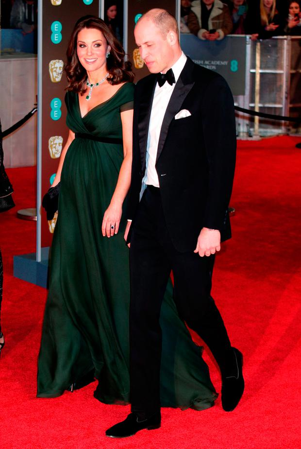 The Duke and Duchess of Cambridge attending the EE British Academy Film Awards held at the Royal Albert Hall, Kensington Gore, Kensington, London