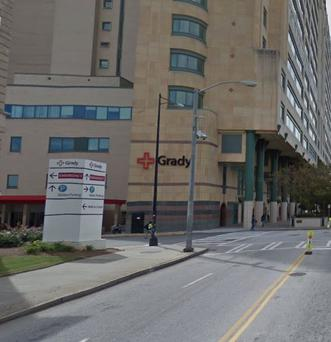 Mr Thornton was taken by ambulance to Grady Memorial Hospital, where he later died.