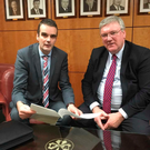 IFA President, Joe Healy and Supermac's MD, Pat McDonagh