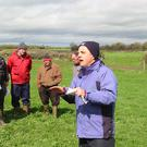 Teagasc dairy specialist George Ramsbottom at a farm walk at the Delahunty farm in Ballykinash, Carrig, Co Tipperary.