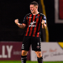 Bohemians goal scorer Dan Casey celebrates after the final whistle
