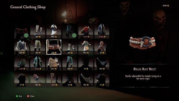 Sea of Thieves: The shop