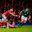 Conor Murray clutches his arm after suffering an injury against Wales in Cardiff last year. Photo: Sportsfile