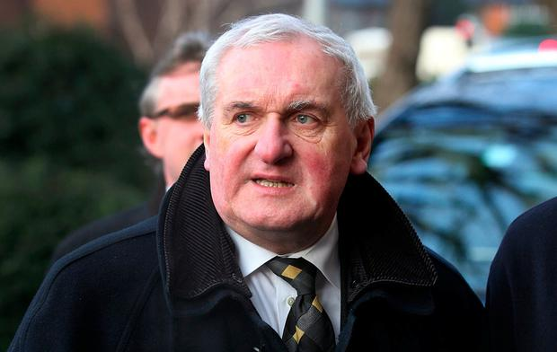 Bertie Ahern poured cold water on Sinn Féin demands for a stand-alone Irish language act. Photo: Steve Humphreys