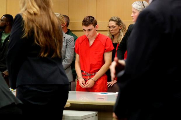 Nikolas Cruz, facing 17 charges of premeditated murder in the mass shooting at Marjory Stoneman Douglas High School in Parkland, appears in court for a status hearing in Fort Lauderdale, Florida, U.S. February 19, 2018. REUTERS/Mike Stocker/Pool