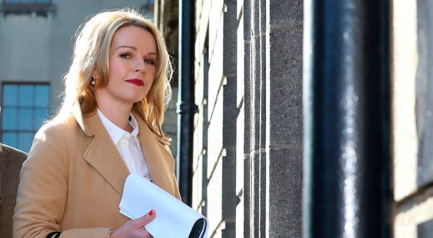 Claire Byrne pictured arriving at the Four Courts during the High Court action taken by Nicky Kehoe Picture: Collins Courts
