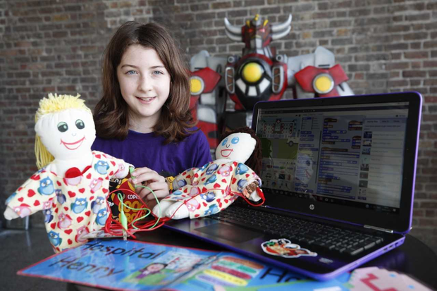 Aoibheann Mangan (11) was named as European Digital Girl of the Year in the 11-14 year-old category of the Ada Awards last November in Belgium. (Conor McCabe Photography)