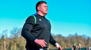 Tadhg Furlong during Ireland Rugby squad training at Carton House in Maynooth, Co Kildare. Photo by David Fitzgerald/Sportsfile