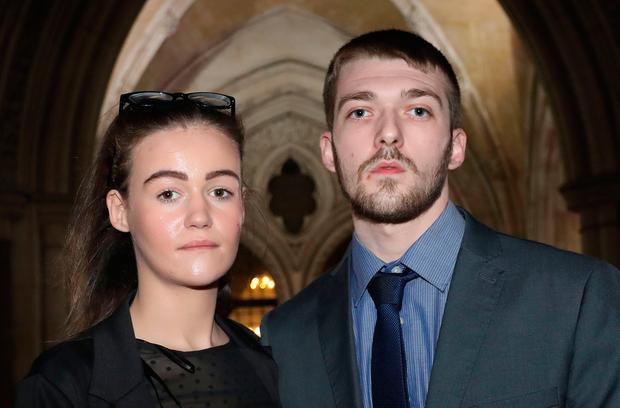 File photo dated 19/12/17 of Tom Evans and Kate James, the parents of 21-month-old Alfie Evans, who are waiting to see whether they have won a High Court treatment fight with doctors. Photo: Philip Toscano/PA Wire